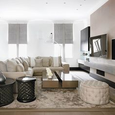 You don't need a seven-figure income--or a fairy godmother with decorating skills to rival Nate Berkus--to turn the place where you live into your favorite place to be. Love Home, My Dream Home, Kelly Hoppen Interiors, Modern Interior, Interior Design, Living Area, Living Room, Home Decor Styles, Dom