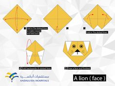 How to create a lion face from paper ORGAMI