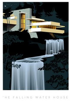 'The Falling Water House' by Frank Lloyd Wright (image via Monsieur Z | Unit c.m.a.)