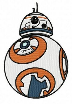 Star Wars BB8 Embroidery Design