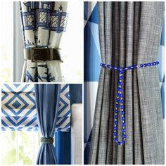 25 superb hacks to make your home more stylish  Creative ties will make curtains look attractive