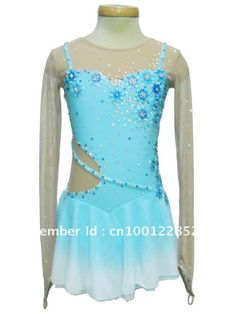 Ice skate competition wear, Ice skating dresses for women, beautiful light blue color-in Other Sports  Entertainment Products from Sports  Entertainment on Aliexpress.com $150.00