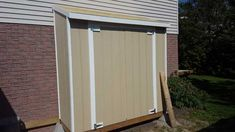 Doors made and installed Diy Wooden Projects, Wooden Diy, Door Header, Roofing Nails, Shed Interior, Lean To Shed, Diy Storage Shed, Houses