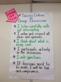 Success Criteria: Group Discussion/Accountable Talk by Mary-Kay G, via Flickr