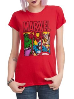 Marvel Heroes Girls T-Shirt || this and some pj bottoms