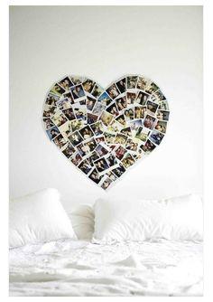 Polaroid coeurs photo deco mur ( Futur projet)