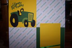 John Deere 12x12 Premade Layout Holds 2 Pictures by 1OfAKindCrafts, $20.00