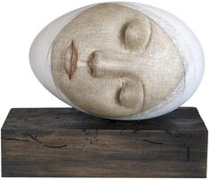 Vladimir Dunjić is an Serbian painter, known for working in the Abstract/Figurative style. For biographical notes and earlier works by Vladimir Dunjić see part Sculpture Head, Textile Sculpture, Dutch Artists, Pebble Art, Figurative Art, Rock Art, Painted Rocks, New Art, Les Oeuvres