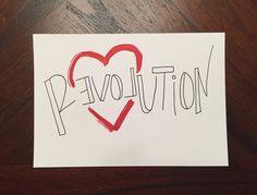 R(evol)ution by SassyAmpersand on Etsy https://www.etsy.com/listing/231610037/revolution #lettering #handlettering #print #type #handtype #quote #custom