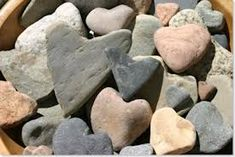 very sweet. I love rocks so I'm going to have to start looking for heart shaped rocks. Heart In Nature, Heart Art, Heart Shaped Rocks, Beach Color, Beach Rocks, I Love Heart, Love Rocks, Sticks And Stones, Rock Collection