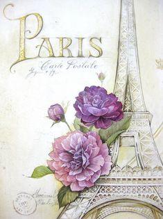 Vintage printable of the Eiffel Tower Vintage Printable, Vintage Labels, Vintage Ephemera, Vintage Cards, Vintage Postcards, Free Printable, Decoupage Vintage, Vintage Diy, Vintage Paper