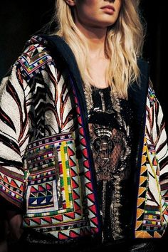 www.cewax aime la mode ethnique, tribale, afro tendance, hippie, boho chic... Emilio Pucci SS14