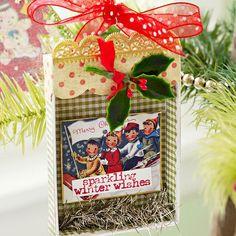 Weihnachtsdeko Papier schöne Idee Basteln