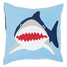 Shark Cushion - New Bedding & Room Accessories - What's New - gltc.co.uk