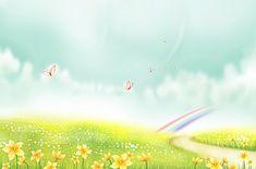 Landscape Background, Watercolor Background, Vector Background, Background Images, Girls Room Paint, Z Book, Cartoon Butterfly, Rainbow Background, Meadow Flowers