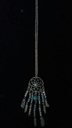 BLUE SKY Dream catcher necklace with Turquoise turquoise dreamcatcher necklace silver dream catcher necklace dreamcatcher necklace