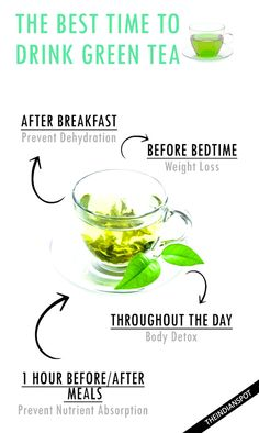 Learn when the best time to drink green tea to increase your results! Learn when the best time to drink green tea to increase your results! Green Tea For Weight Loss, Weight Loss Tea, Weight Loss Diet Plan, Weight Loss Drinks, Weight Loss Smoothies, Easy Weight Loss, Healthy Weight Loss, Body Weight, Water Weight