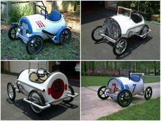 Plastic Barrel Drum Pedal Cars