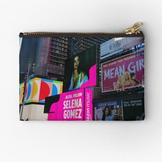 Iphone Wallet, Iphone Cases, Gifts For Family, Zipper Pouch, Selena Gomez, New York City, Girly, Art Prints, Printed