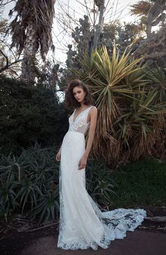 Australian brides can now try on wedding dresses by Israeli bridal brand FLORA, available at Melbourne bridal boutique Bluebell Bridal