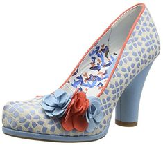 Ruby Shoo 'Eva' - Women's Closed-Toe Pumps. These shoes are so cute with a real retro look. They come in Black Spots, Navy & Red and Sky Blue. I want a pair of each! If you want to see what the others look like without leaving Pinterest check out my Shoes board - I've pinned them all! (affiliate) http://amzn.to/29qp2Ht