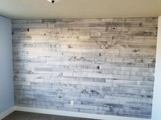 Weaber Weaber in. x 4 in. x 4 ft. Nantucket Gray Poplar Weathered Board - The Home Depot - I really like the material this wall is made of. This wall in what looks like a living room would be considered to be an accent wall. Plank Wall Bedroom, Accent Wall Bedroom, Bedroom Decor, Farm Bedroom, Master Bedroom, Wall Ideas For Bedroom, Living Room Wall Ideas, Pallet Wall Bedroom, Feature Wall Living Room