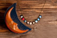 Realistic solar system necklace, planet necklace, universe necklace, galaxy necklace, antique brass pendant, actual solar system necklace by SomeMagic on Etsy https://www.etsy.com/listing/190484246/realistic-solar-system-necklace-planet