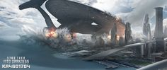 watch Star Trek Into Darkness: USS Vengeance crashing into Starfleet Headquarters