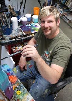 Steve Barton in his Southern California studio #art