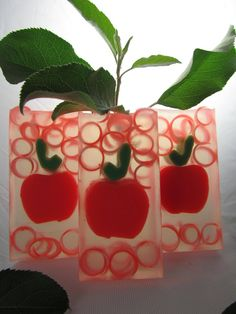 Red Apple Clear Glycerin Soap by Essence of O