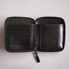 Wallet Comme des Garcons - 二つ折りWallet Comme des Garcons - ZIP財布 SA2100VB #black