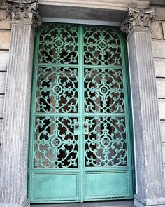 #frenchquarter #door #neworleans #architecture #green #filigree #metal by de_orleans