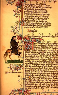 Illumination from The Canterbury Tales by Geoffrey Chaucer