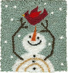 "When flakes begin to flurry and spirits soar high, the flurrytime friends count snowflakes passing by!  Pattern includes directions for making this design into a Punchneedle Patch(TM) for adorning baskets, purses and clothing.Finished Punchneedle Size: 3"" H x 3"" W"