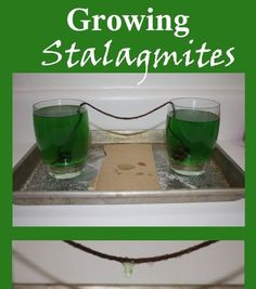 How 'bout a holla forsome home-brewed science fun!? We recently grew our very own stalagmites and stalactites on our kitchen counter ov...