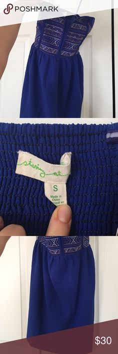 Cobalt urban outfitters structured bustier dress Small worn once Urban Outfitters Dresses Mini