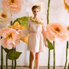 Peach flower set