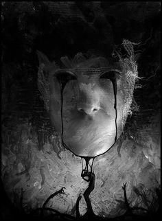 I love Art ,Horror and other nice things. All the Pictures that I post do not belong to me! Fantasy Kunst, Dark Fantasy Art, Creepy Art, Scary, Creepy Horror, The Crow, Art Tumblr, Dark Artwork, Arte Horror