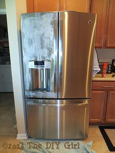 Polish your stainless steel appliances with Pledge.