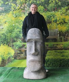 Charmant Easter Island Statue, Garden Statue, Moai Easter Island Figure, Moai  Statue, Easter Island Head, Concrete Statue, Cement Statue | Garden Statues  | Pinterest ...