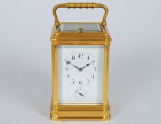Tiffany & Co. Grand Sonnerie Brass Carriage Clock