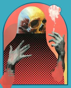 michael reeder, portrait, portraiture, geometric, colorful, graphic, figurative, abstract, upper playground