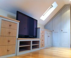 Furniture - Attic and Under Eaves Cupboards - Dunham Fitted Furniture Attic Bedroom Designs, Attic Bedroom Small, Attic Design, Attic Rooms, Attic Spaces, Bedroom Layouts, Attic Bathroom, Bed Rooms, Eaves Storage
