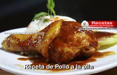 Receta de Pollo a la olla,  si te gusta el Pollo debes probar esta preparación, una receta muy rica, sencilla y práctica de preparar.