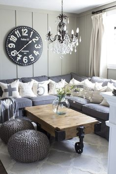 Home Renovation Living Room How to Decorate with Neutrals in a Farmhouse Living Room - Love Everything About This Room! Living Room Decor On A Budget, Small Living Rooms, Living Room Modern, Home Living Room, Living Room Designs, Living Room Furniture, How To Decorate Living Room, Living Spaces, Lampe Decoration