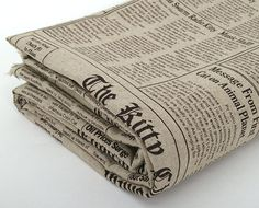 Linen newspaper fabric $11.90