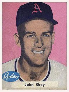 1955 Rodeo Meats Kansas City Athletics #17 John Gray Front