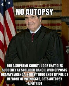 Too obvious. Hit job by the President on a supreme court justice. Obama's America