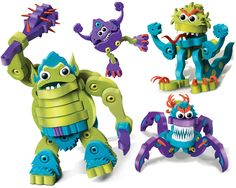 Ogre & Monsters and over 7,500 other quality toys at Fat Brain Toys. Kids jump right into wacky construction fun. Create big belly ogres, scary monsters, and two-faced creatures. These four harmless beasts bring imaginations roaring to life!