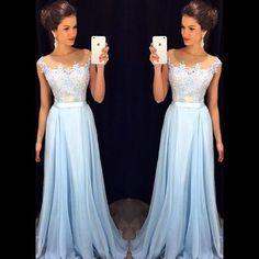 long prom dress, lace prom dress, blue prom dress, elegant prom dress, cheap prom dress, bridesmaid dress, BD1692
